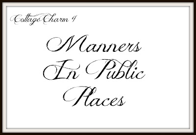 Manners in public places