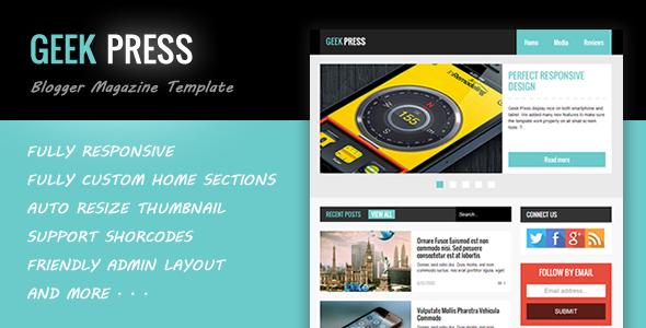 geekpress news blogger template