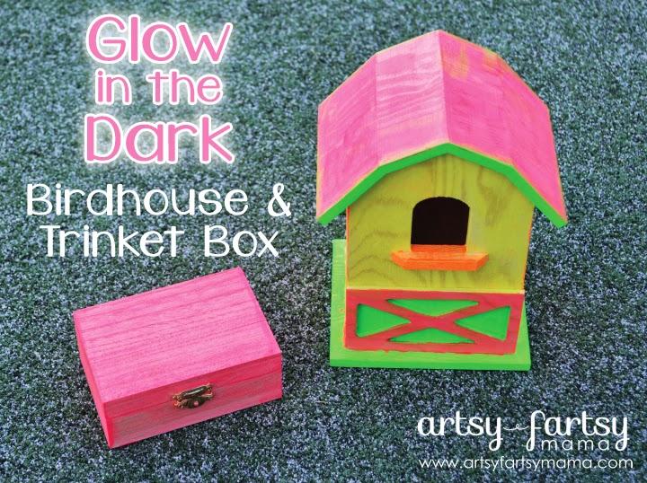 Glow in the Dark Birdhouse & Trinket Box #PlaidSummerKids