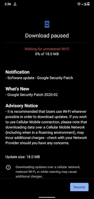 Nokia 6.1 Plus receiving February 2020 Android Security update.