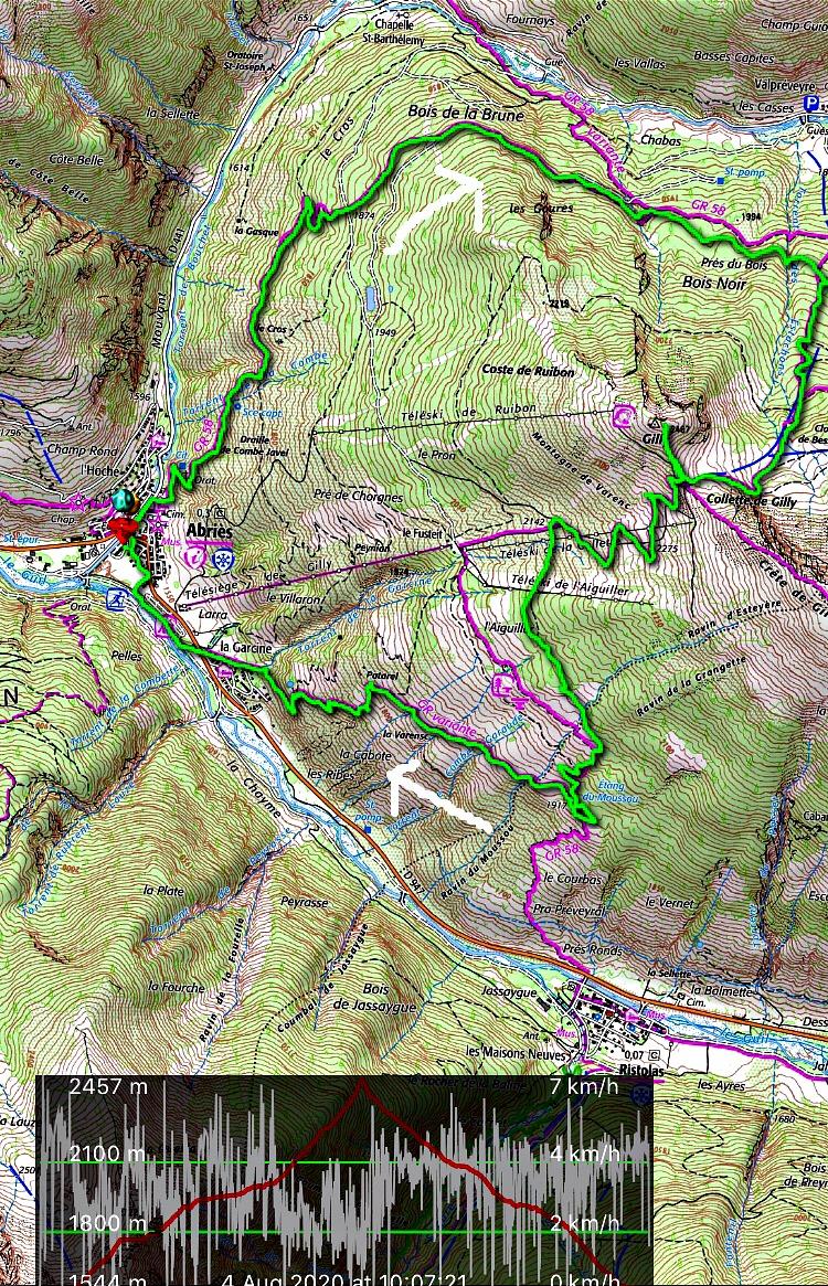 Gilly loop hike track