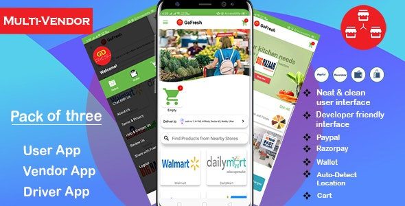 Download Multi Vendor Grocery Android App