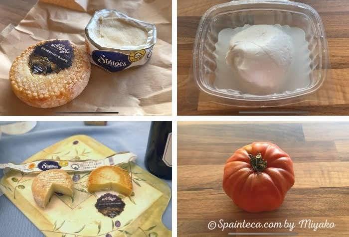 マドリードの市場で買ったポルトガルのチーズとイタリアチーズモッツアレラ