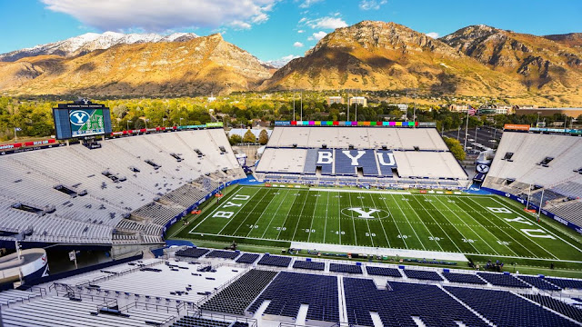 Empty BYU Football Stadium