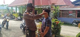Razia Masker Terus Gencar di Galakan di Wilayah Hukum Polsek Alla Polres Enrekang