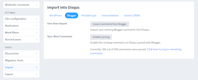 Import Comments From Blogger to Disqus