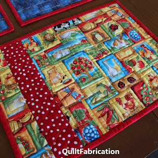 QUILTED PLACE MATS-ANIMAL QUILTS-TABLE DECOR