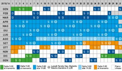 Calendario Italia in Miniatura