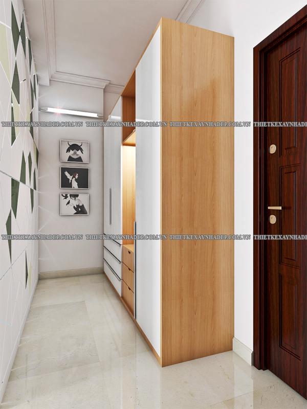 Mẫu thiết kế nhà 2 tầng 1 tum 5x12 bán cổ điển ở nông thôn Phong-thay-do-lau-1