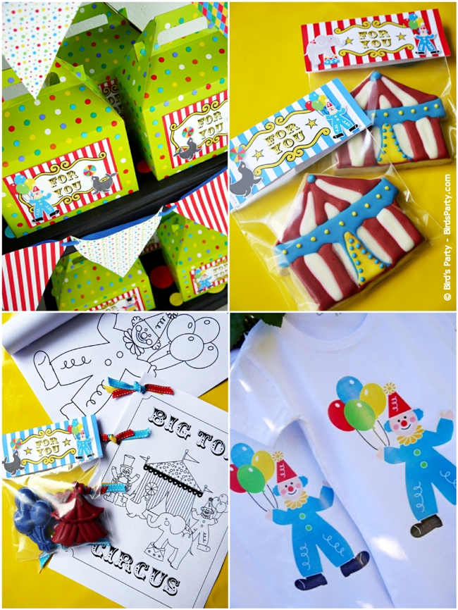 Big Top Circus Carnival Inspired Birthday Party Ideas and Printables