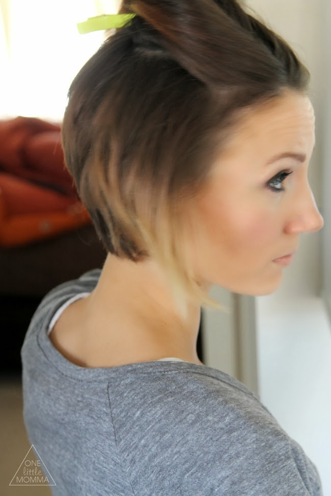 Styling An Angled Bob Easy Everyday Tutorial ONE Little MOMMA