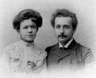 Albert Einstein with his wife,Mileva Maric.