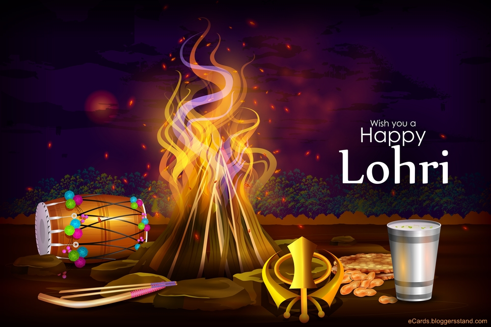 Happy lohri 2021 wishing whatsapp status pics