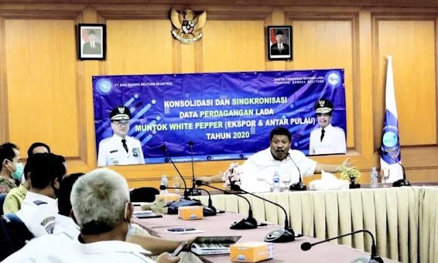 Pertemuan Pemprov Babel Dengan Eksportir Lada di Kantor Gubernur Babel