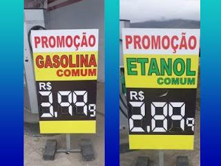Preços de gasolina em Jequié