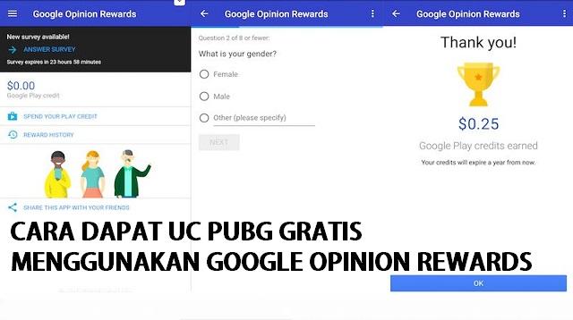 Cara Dapat UC PUBG Gratis