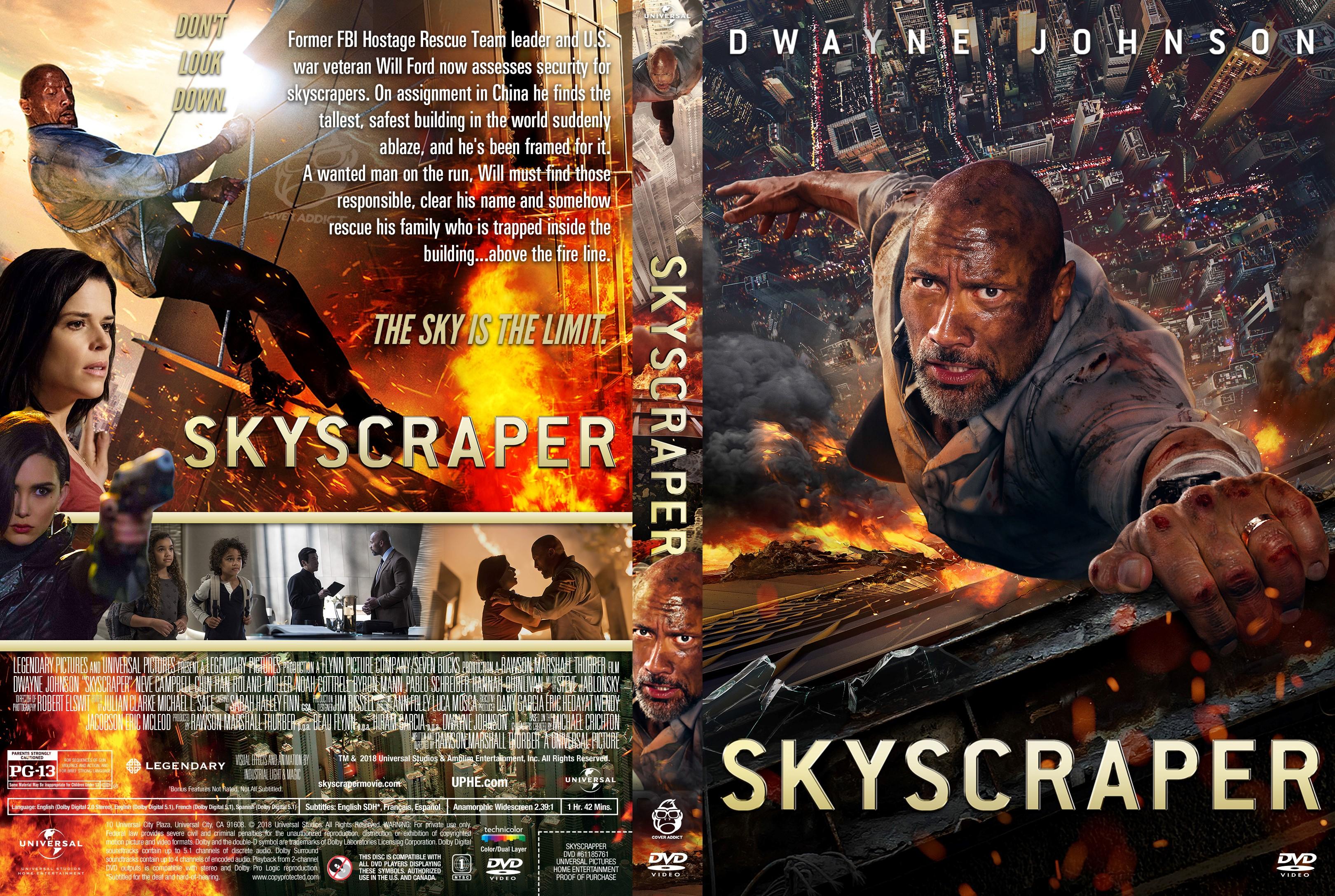 skyscraper dvd cover cover addict free dvd bluray. Black Bedroom Furniture Sets. Home Design Ideas
