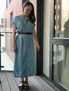 Viscose Chambray Kalle Maxi Dress