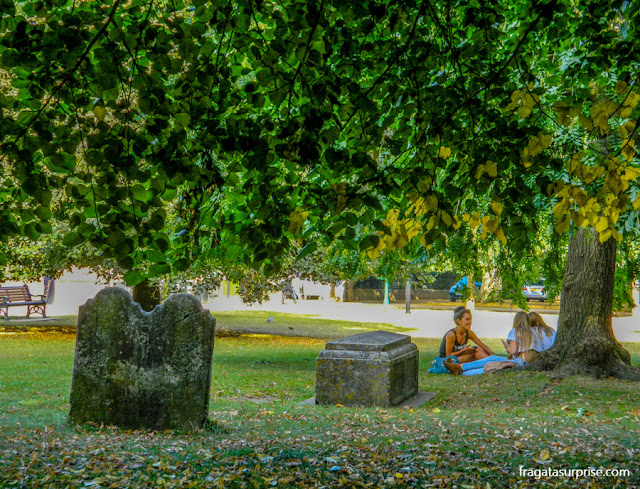 Jardim da Catedral de Winchester, Inglaterra