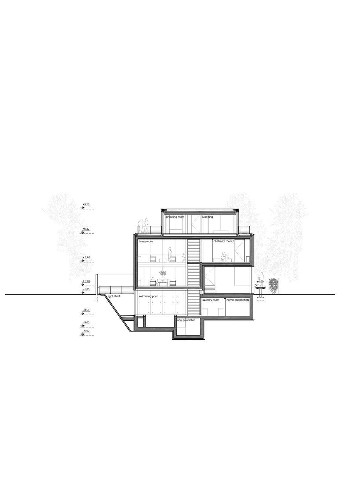 mặt+cắt+nhà+phố