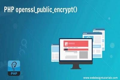 PHP openssl_public_encrypt() Function