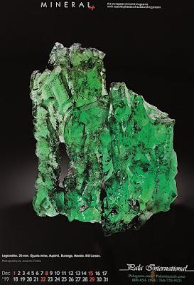 mineral, calendario, legrandita