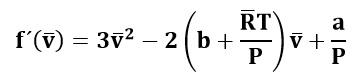 Derivada de la ecuación de Van der Waals