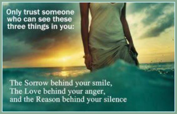 3 Smile Can Someone Trust You Your Who Things Sorrow Behind Only See These