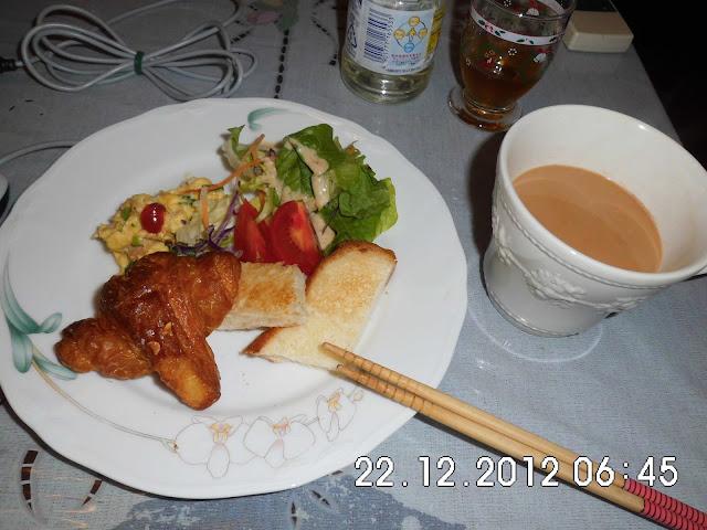 Sarapan dan Indian Chai Jepang