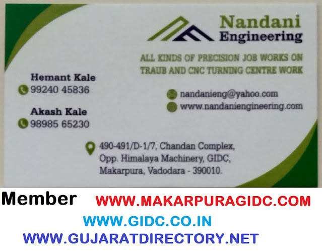 NANDANI ENGINEERING - 9924045836 Job Works on Traub and CNC Turning