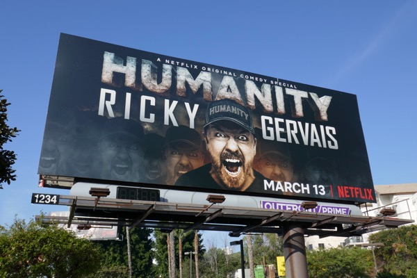 Ricky Gervais Humanity billboard