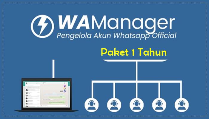 WA Manager Paket 1 Tahun
