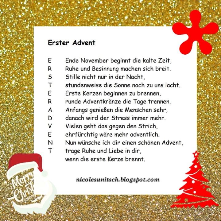 Gedichte Von Nicole Sunitsch Autorin Erster Advent