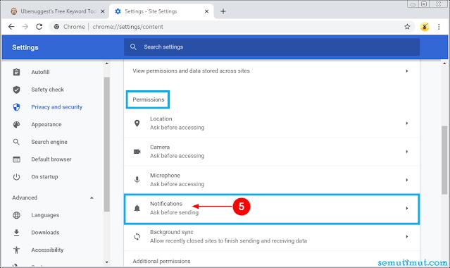 cara mematikan notifikasi google chrome
