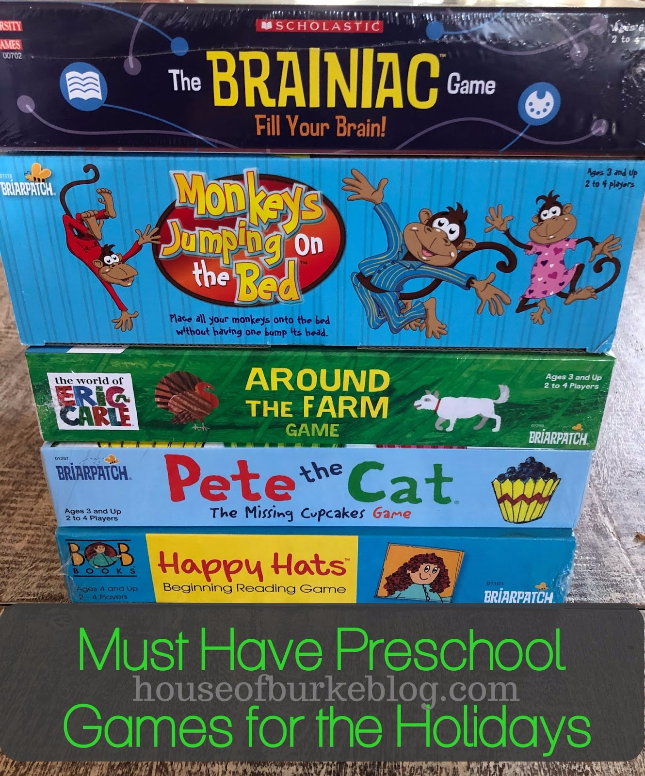 House of Burke: Must Have Preschool Games for the Holidays