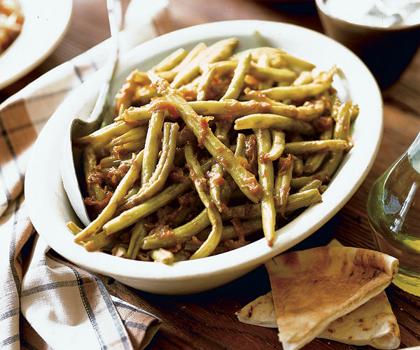Green Beans With Onions (Loubieh Bziet) Recipe