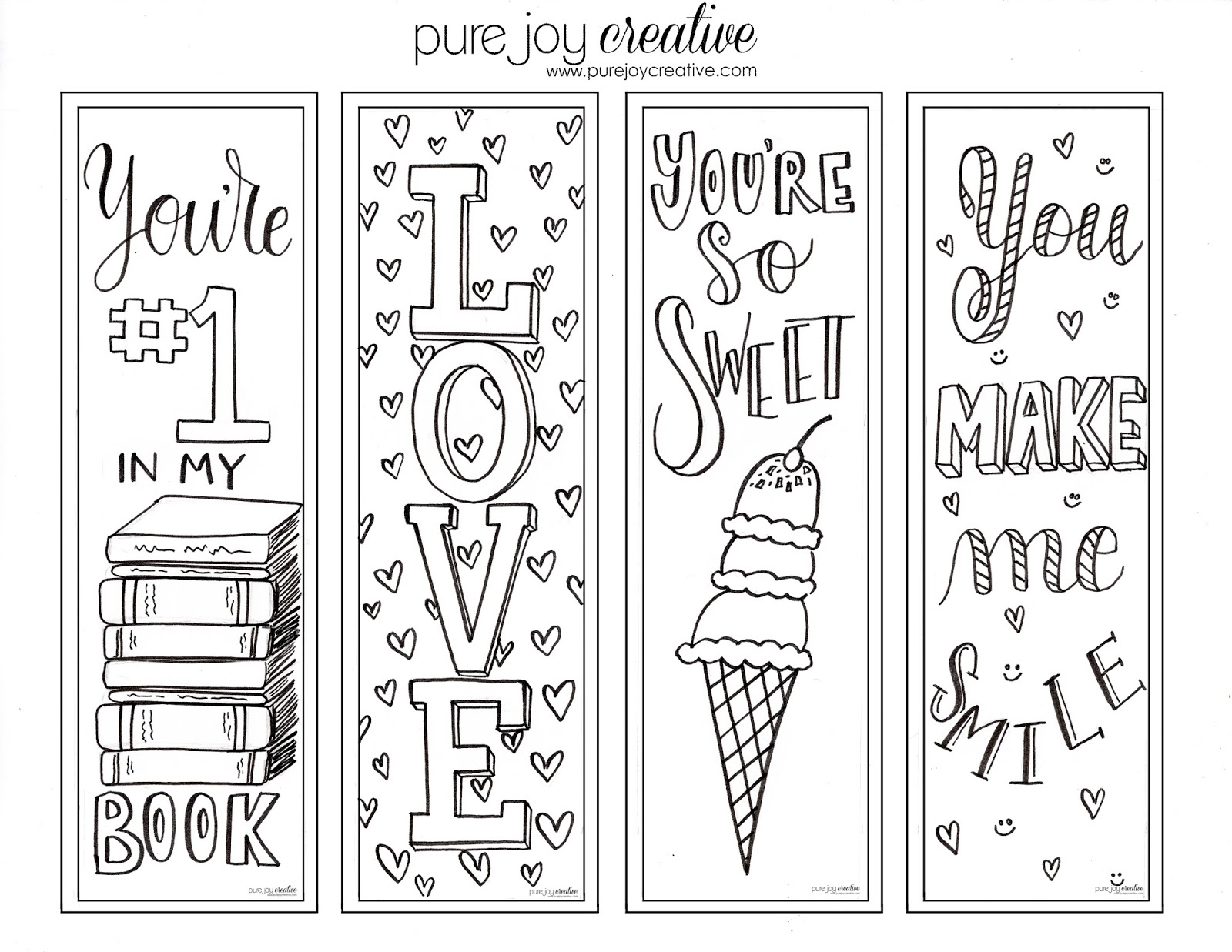 photo about Printable Valentines Bookmarks identified as Good Valentine Bookmarks In the direction of Colour @YP54