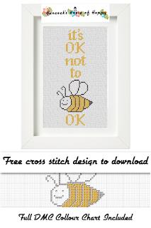 it's ok not to be ok cross stitch pattern