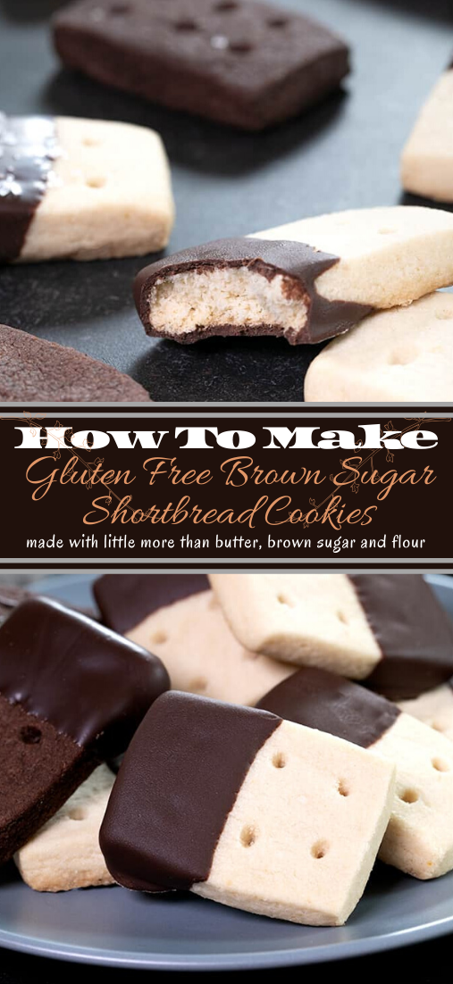 Gluten Free Brown Sugar Shortbread Cookies #desserts #cakerecipe #chocolate #fingerfood #easy