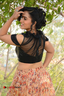 Actress Chetana Uttej Stills in Floral Long Skirt at Pichiga Nachav Movie Press Meet  0014.JPG