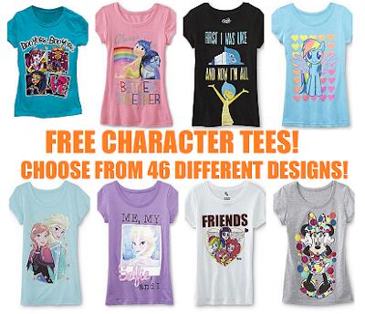 477c63bc942 Extreme Couponing Mommy: FREE Girls Character Shirts at KMart