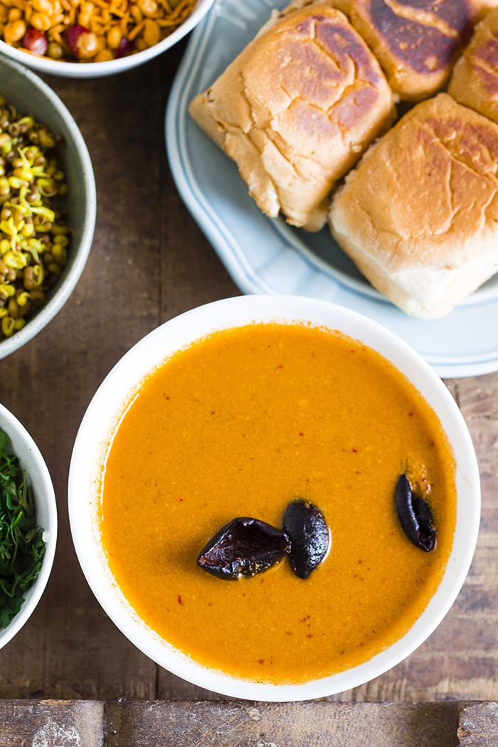 Spicy Maharashtrian Misal Pav
