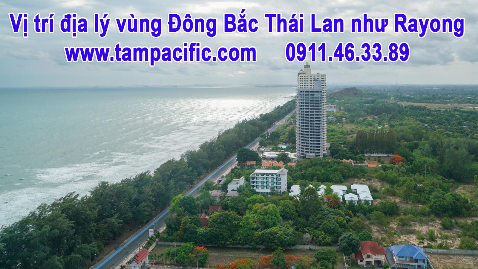 Vị trí địa lý vùng Đông Bắc Thái Lan như Rayong