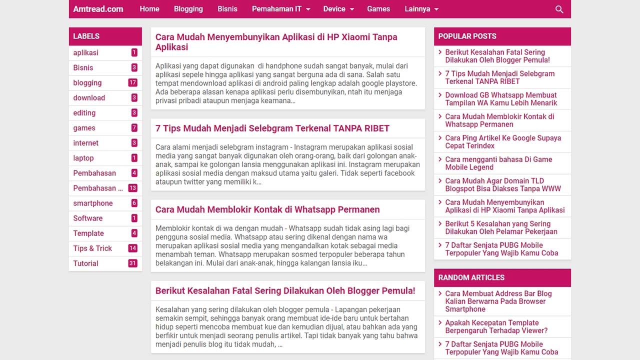 Review Template Kompi Text Aja Dari Blog Amtread