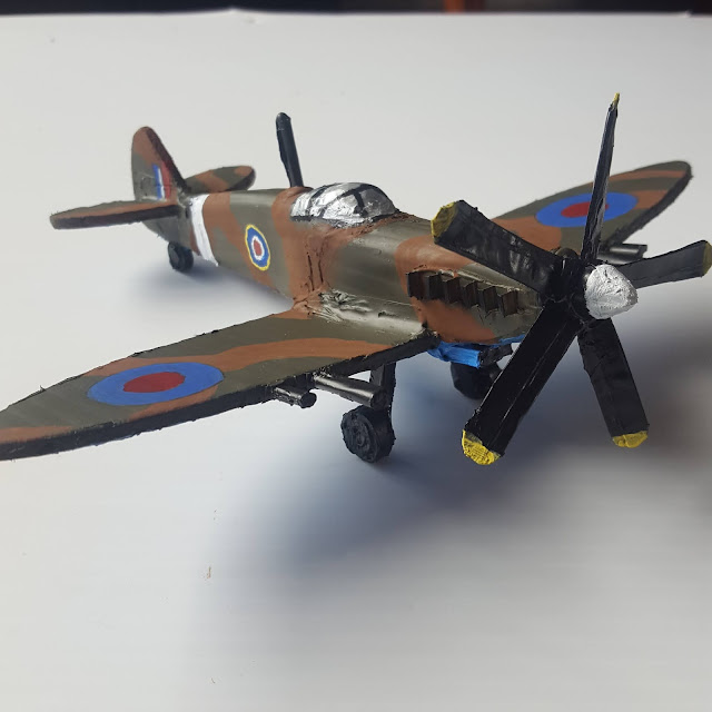 Supermarine Spitfire Model from Scrap Plastic The Final Product - Coroplast DIY - CoroplastCreations.com - photos by: HalifaxSportsPhotos.ca