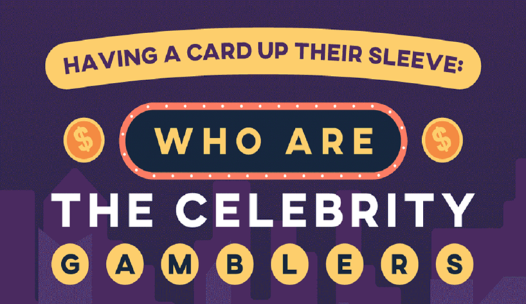 Cards up Their Sleeves: Who Are Celebrity Gamblers? #infographic