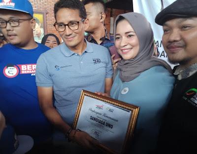 Sandiaga Uno dan ACT Lampung Galang Dana Korban Gempa dan Tsunami Palu-Donggala