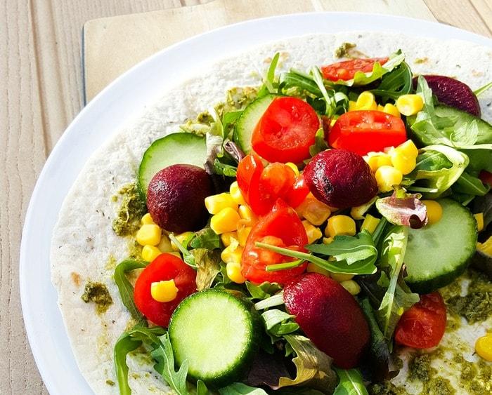 Summer Salad & Baby Beet Wraps