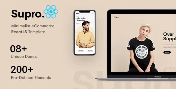 Best Minimalist eCommerce ReactJS Template