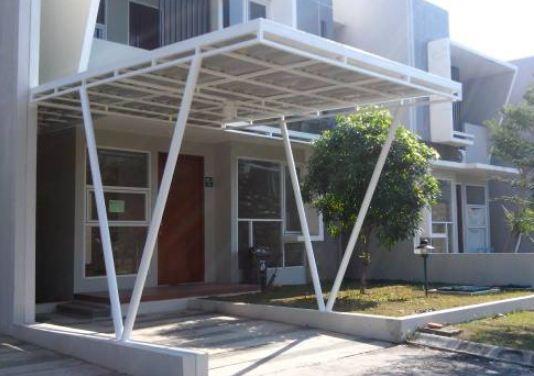 kanopi rumah warna putih